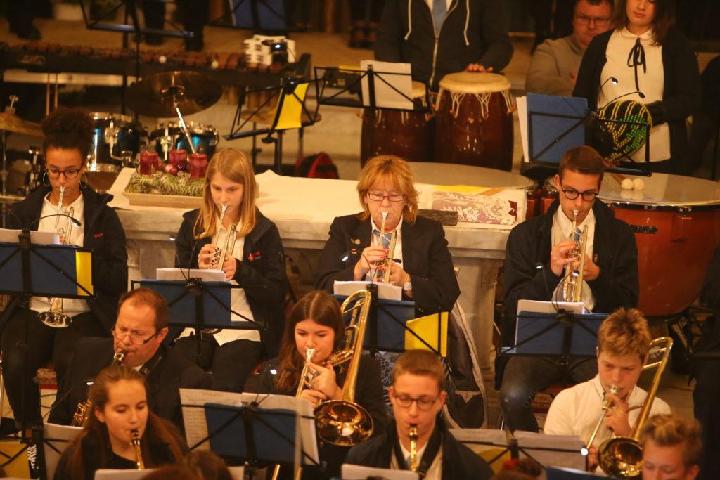 Chreschtconcert vun der Trentenger Musek, zesummen mat der Chorale Lidderfrenn Monnerech.